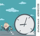 the time management concept  | Shutterstock .eps vector #608481338