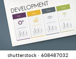 development success performance ... | Shutterstock . vector #608487032