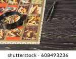 collecting postage stamps.... | Shutterstock . vector #608493236