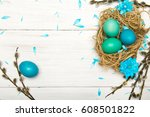 Easter Background With Eggs ...