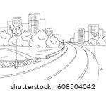 street road graphic black white ... | Shutterstock .eps vector #608504042