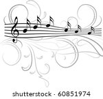 music notes for your design. | Shutterstock .eps vector #60851974