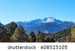 pikes peak | Shutterstock . vector #608525105