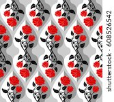 Seamless Damask Pattern With...