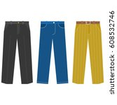 set of trousers for  business... | Shutterstock .eps vector #608532746