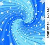 blue twisting starry background | Shutterstock . vector #608537