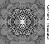 seamless pattern. gray with... | Shutterstock . vector #608539892