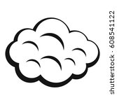summer cloud icon. simple... | Shutterstock . vector #608541122