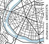 street map texture  vector | Shutterstock .eps vector #608551976