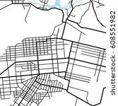 street map texture  vector | Shutterstock .eps vector #608551982