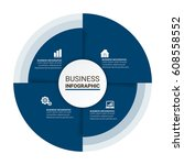 modern business infographic... | Shutterstock .eps vector #608558552