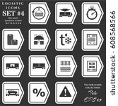 a set of icons on the theme of... | Shutterstock .eps vector #608568566