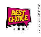 lettering best choice  offer ...   Shutterstock .eps vector #608569646