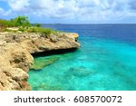 rocky shore with stones and... | Shutterstock . vector #608570072