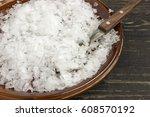 magnesium chloride flakes  full ... | Shutterstock . vector #608570192