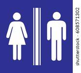 toilet sign | Shutterstock .eps vector #608571302