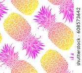 background with fresh exotic... | Shutterstock .eps vector #608573642