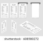 cash receipt set made in... | Shutterstock .eps vector #608580272