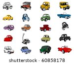 car icon set | Shutterstock .eps vector #60858178