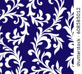 seamless pattern with fantasy... | Shutterstock .eps vector #608585012