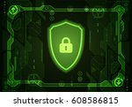 protection concept. protect... | Shutterstock .eps vector #608586815