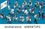 people isometric 3d  the big... | Shutterstock . vector #608587292