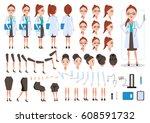female doctor  character... | Shutterstock .eps vector #608591732