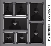 vector page of photo album ... | Shutterstock .eps vector #608600345