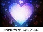 dark pink  blue vector heart...   Shutterstock .eps vector #608623382