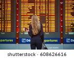 young elegant business woman... | Shutterstock . vector #608626616