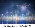 modern business city background ... | Shutterstock . vector #608644232
