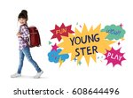 youngster childhood fun...   Shutterstock . vector #608644496