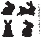 Easter Silhouettes Of Cartoon...