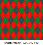 seamless argyle plaid pattern... | Shutterstock .eps vector #608647442