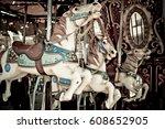 Abandoned Carousel Horses