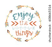 ethnic boho style element for t ... | Shutterstock .eps vector #608665316