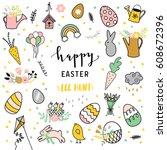 easter illustration | Shutterstock .eps vector #608672396