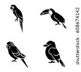 birds vector icons | Shutterstock .eps vector #608674142