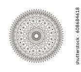 mandala flower design for... | Shutterstock .eps vector #608684618