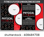 physical fitness flyer template ... | Shutterstock .eps vector #608684708