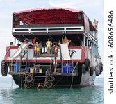 "Small photo of Excursion ""Madagascar"" aboard the ship ""Black Diamond"". Thailand, Gulf of Siam, November 11, 2016. EDITORIAL"