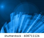 technology abstract blue... | Shutterstock .eps vector #608711126