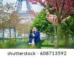 Romantic Couple In Paris On A...
