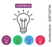 lightbulb. isolated  line icon... | Shutterstock .eps vector #608718746