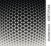 geometric triangle halftone... | Shutterstock .eps vector #608719166