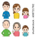 three generations family icon | Shutterstock .eps vector #608721782