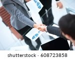 close up view of business... | Shutterstock . vector #608723858