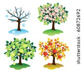 A Set Of Trees In Four Seasons. ...