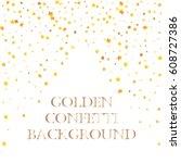 festive colorful golden star...   Shutterstock .eps vector #608727386