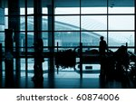 modern airport interior with... | Shutterstock . vector #60874006
